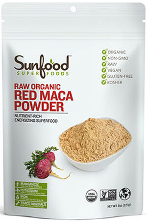 Sunfood™ Raw Organic Red Maca Powder 8 oz. Powder