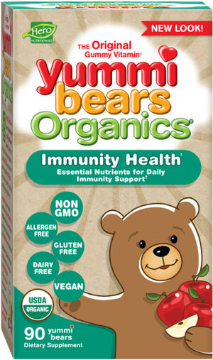 Hero Nutritional Yummi Bears Organics® Immunity Health 90 Gummies Fruit