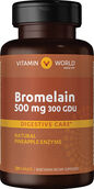 Vitamin World Pineapple Bromelain 500 mg. 120 Caplets
