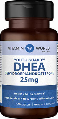 Vitamin World DHEA 25 mg. 100 Tablets