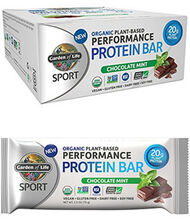 Garden Of Life Sport Organic Plant-Based Performance Protein Bars Chocolate Mint 12 Bars