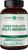 Super Chelated Multi Minerals 250 Caplets Vitamin World Super Chelated Multi Minerals 250 Caplets