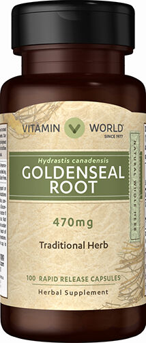 Vitamin World Goldenseal Root 470 mg. 100 Capsules