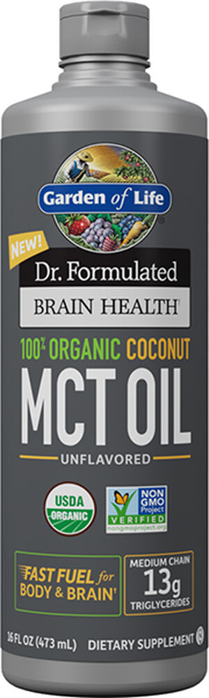 Garden of Life Dr. Formulated Brain Health 100% Organic Coconut MCT Oil