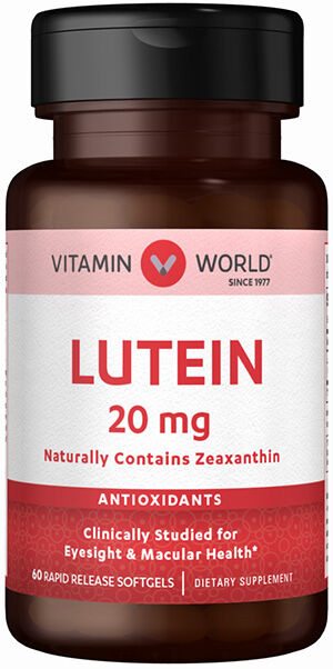 Vitamin World Lutein 20mg 60 Softgels 20mg.