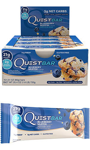 Quest Nutrition Quest Bars Blueberry Muffin 12 Bars