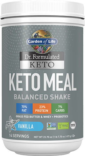 Garden Of Life Dr. Formulated Keto Meal Balanced Shake Vanilla 23.70 oz. Powder