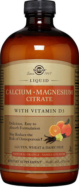 Liquid Calcium Magnesium Citrate with Vitamin D3 Orange-Vanilla