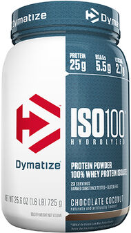 Dymatize ISO-100® Whey Protein Isolate 1.6 lbs. Chocolate Coconut 1.6 lbs. Powder
