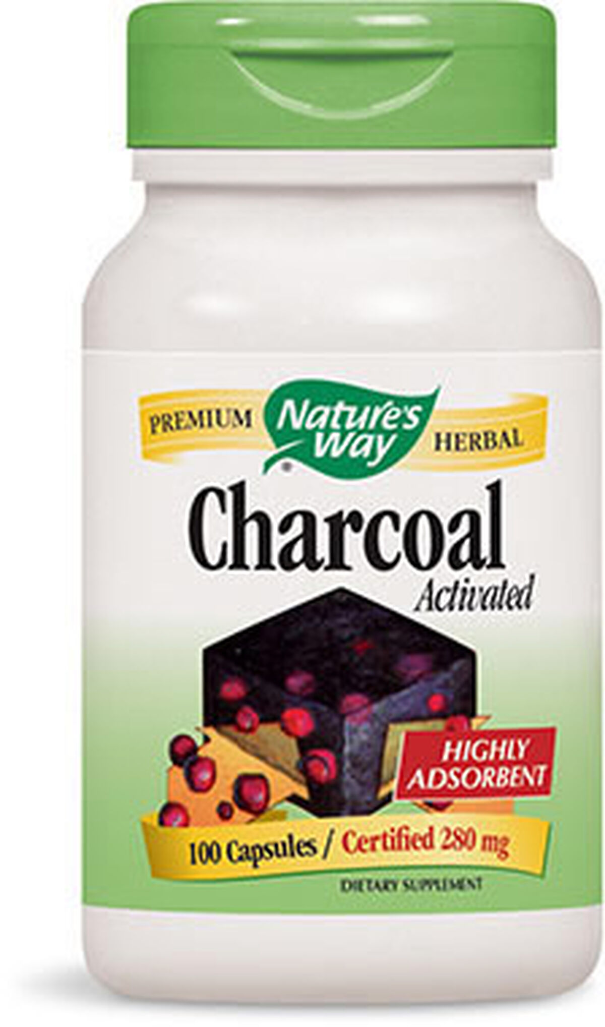 Nature's Way® Activated Charcoal 280 mg. | Vitamin World | Tuggl