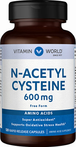 Vitamin World N-Acetyl Cysteine 600 mg. 120 Capsules