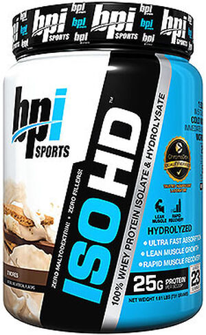 BPI ISO-HD Whey Protein Isolate 2 lbs. Powder Smores