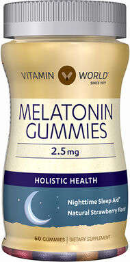 Vitamin World Melatonin Gummies 2.6 gms. 60 Gummies Strawberry