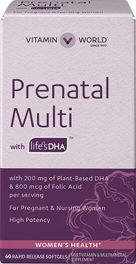 Prenatal Multivitamins with DHA 200 mg.