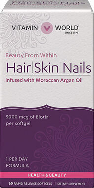Hair, Skin & Nails with Moroccan Argan Oil, , hi-res