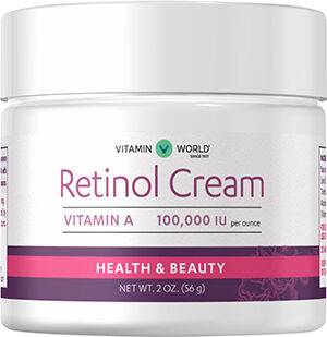 Vitamin World Retinol Cream 100,000 IU 2 oz. Cream 100000IU
