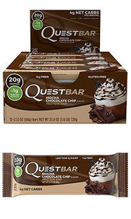 Quest Nutrition Quest Bars 12 Bars Mocha Chocolate Chip