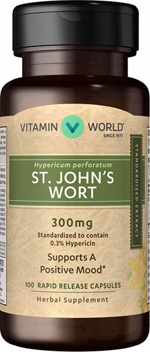 St. John's Wort 300 mg Standardized Extract, , hi-res