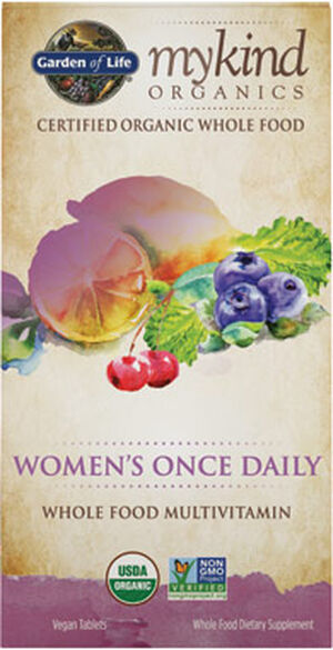 Garden Of Life mykind Organics Women's Once Daily Multivitamin 60 Tablets