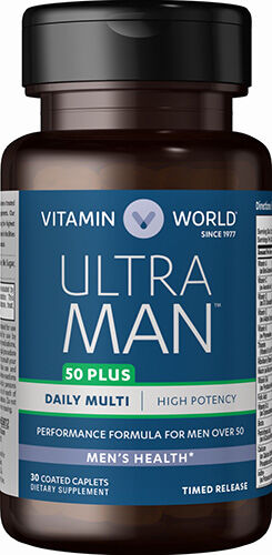 Vitamin World Ultra Man™ 50 Plus Daily Multivitamins 30 Caplets