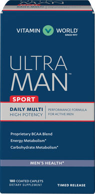 Vitamin World Ultra Man™ Sport Daily Multivitamins 180 Caplets
