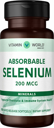 Vitamin World Absorbable Selenium 200mcg Mineral Supplement