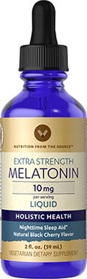 Vitamin World Melatonin 10 mg. 2 oz. Liquid Black Cherry