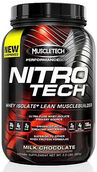 MuscleTech Nitro Tech™ Whey Isolate+ Milk Chocolate 2 lbs. 2 lbs. Powder