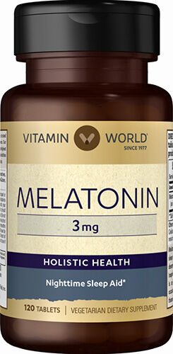 Vitamin World Melatonin 3 mg 120 Tablets 3mg.