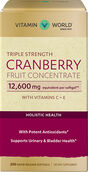 Vitamin World Triple Strength Cranberry 12,600mg.