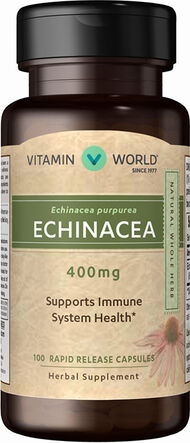 Vitamin World Echinacea 400 mg. 100 Capsules