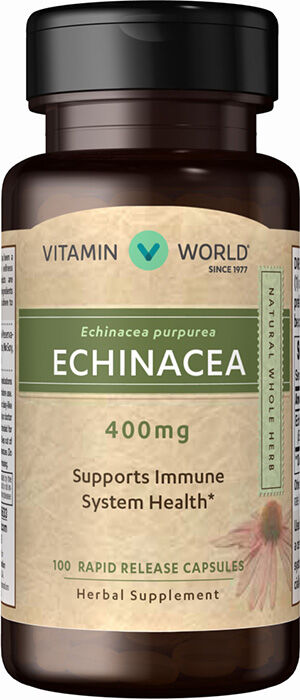 Vitamin World Echinacea 400 mg. 100 Capsules 400mg.