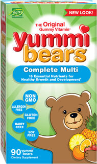 Hero Nutritional Yummi Bears MultiVitamins & Minerals 90 Gummies Natural fruit flavors