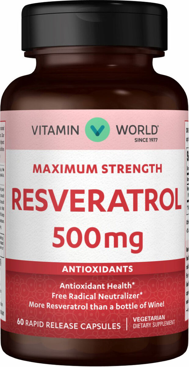 Resveratrol 500 Mg Antioxidant Vitamin World
