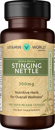 Vitamin World Stinging Nettle 300 mg. 100 Capsules