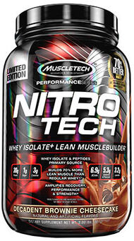 Nitro Tech™ Whey Isolate+ Decadent Brownie Cheesecake 2 lbs.