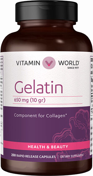 Vitamin World Gelatin Capsules 650mg