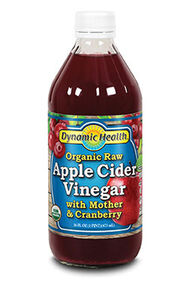 Organic Raw Apple Cider Vinegar with Mother & Cranberry, , hi-res
