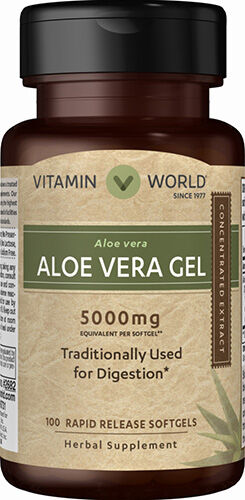 Vitamin World Aloe Vera Gel 5000 mg. 100 Softgels