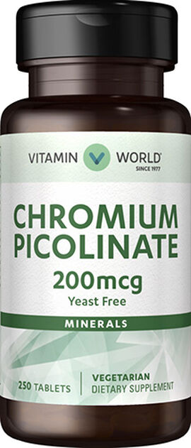 Chromium Picolinate 200 mcg. Tablets