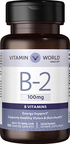 Vitamin World Vitamin B-2 100 mg. 100 Caplets