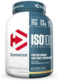Dymatize® ISO-100® Whey Protein Isolate Birthday Cake 3 lbs