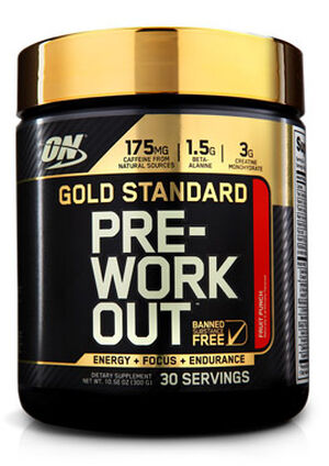 Gold Standard Pre-Workout Fruit Punch 10.58 oz., , hi-res