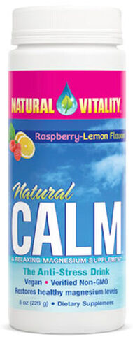 Natural Vitality Natural Calm Raspberry 8 oz. Powder 325mg.