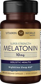 Vitamin World Melatonin 10 mg. 60 Capsules