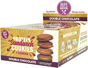 Buff Bake Protein Sandwich Cookies Double Chocolate 8 Pack