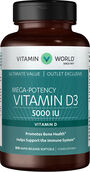 Vitamin World Vitamin D3 5000IU Value Size 500 softgels