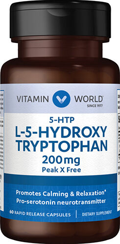Vitamin World 5-HTP 200 mg. 60 Capsules