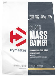 Super Mass Gainer Gourmet Vanilla 12 lbs., , hi-res