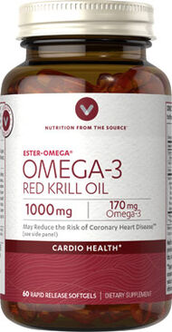 Vitamin World Omega-3 Red Krill Oil 1000 mg. 60 Softgels